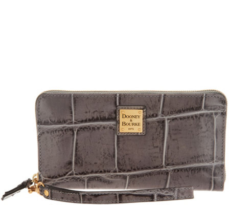Dooney & Bourke Croco Embossed Leather Wallet-Pembrook