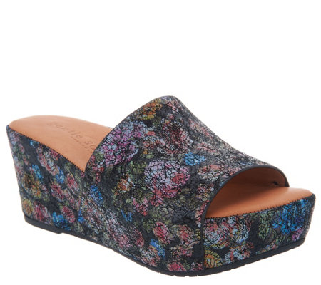 Gentle Souls Slip-on Slide Wedges - Forella