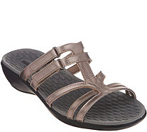 Clarks Leather Adjustable Slide Sandals - Sonar Pilot - A306384
