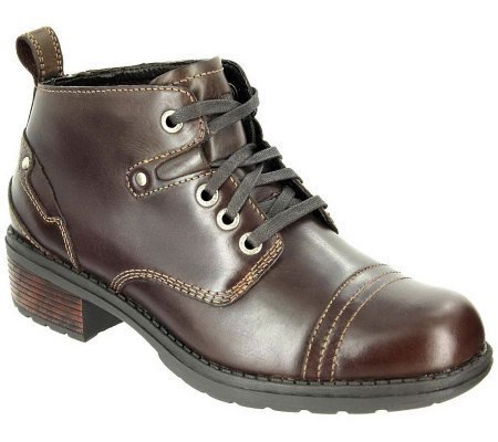 Eastland Leather Lace-up Ankle Boots - Overdrive