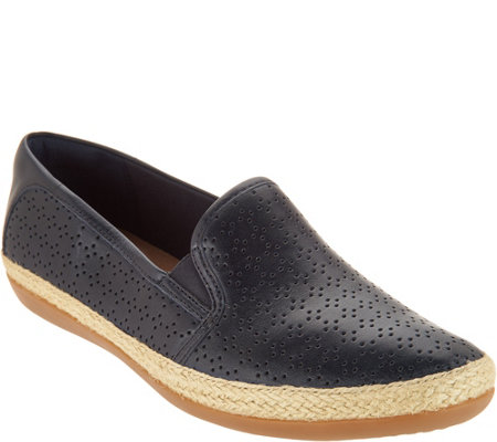 """As Is"" Clarks Performated Leather Slip-on Shoes- Danelly Molly"