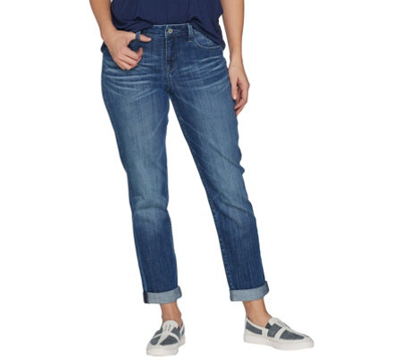 """As Is"" Laurie Felt Classic Denim Weekender Jeans"