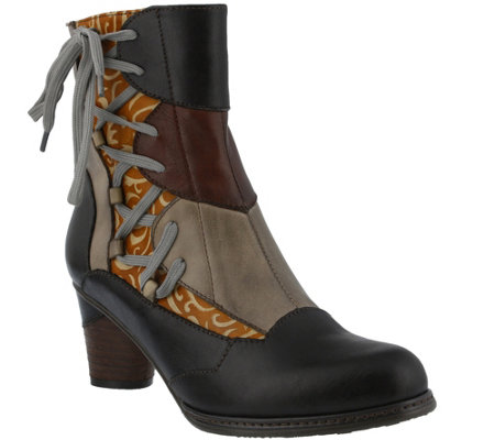 Spring Step L'Artiste Leather Ankle Boots -  Mia