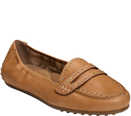Aerosoles Leather Driving Moccasins - Drive Up