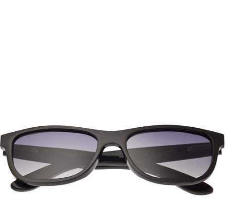 Bertha Olivia Buffalo-Horn Sunglasses w/ Polarized Lens, Blac