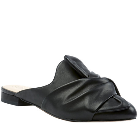 Sole Society Slip-On Tie Mules - Pear