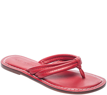 Bernardo Leather Sandals - Miami