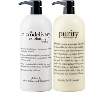 philosophy super-size purity made simple & micro- delivery wash - A86884