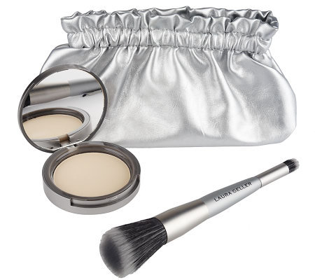 Laura Geller Shimmer Down Mattifying Powder with Brush