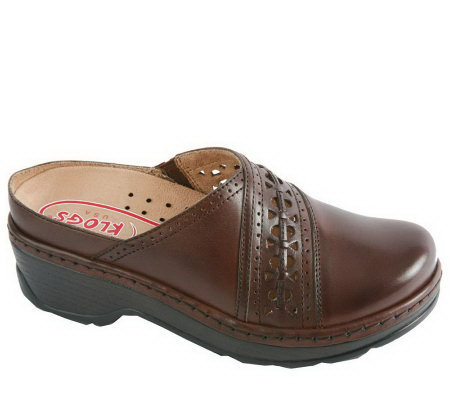 Klogs Leather Open Back Clogs - Syracuse