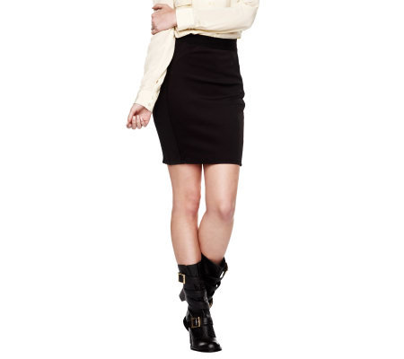 K-DASH by Kardashian Paneled Pencil Skirt w/Seam Detail
