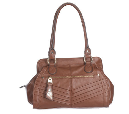 KathyVanZeeland Luxury Zip Top Frame Satchel