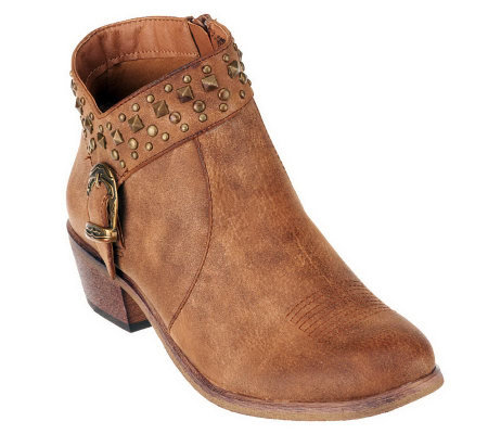 BareTraps Pearce Ankle Boots with Stud and Buckle Detail