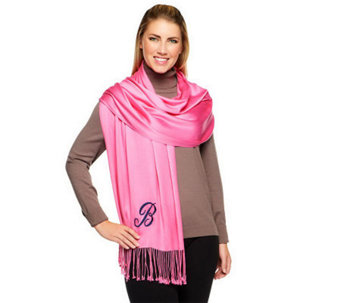 Joan Rivers Embroidered Initial Scarf - A238185