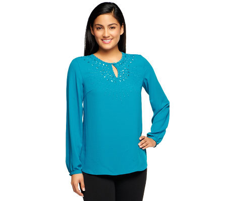 Kelly by Clinton Kelly Blouse with Beading Detail