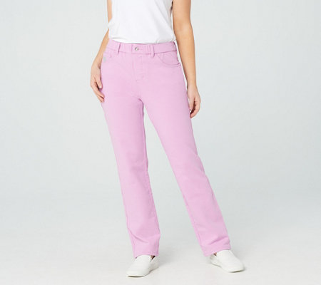 """As Is"" Quacker Factory Pull-on Regular Straight Leg Pants"