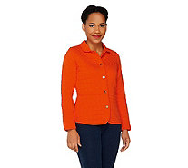 Isaac Mizrahi Live! Quilted Knit Jacket - A260885