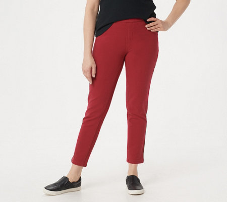 "Denim & Co. ""How Comfy"" Slim Leg Ankle Jeans w/ Roll Cuff"