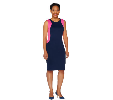 View by Walter Baker Petite Sleeveless Scuba Dress