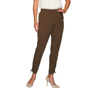 Lisa Rinna Collection Pull-On Ankle Pants with Zip Pockets - A267485