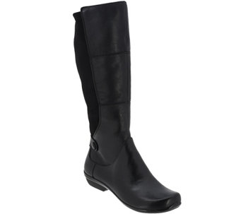 Dansko Leather Wide Calf Boots - Odette - A268685