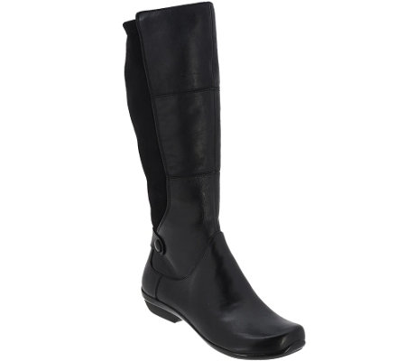 Dansko Leather Wide Calf Boots - Odette