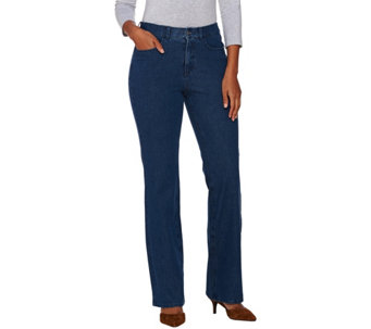 Isaac Mizrahi Live! Regular 24/7 Denim 5 Pocket Boot Cut Pants - A270585