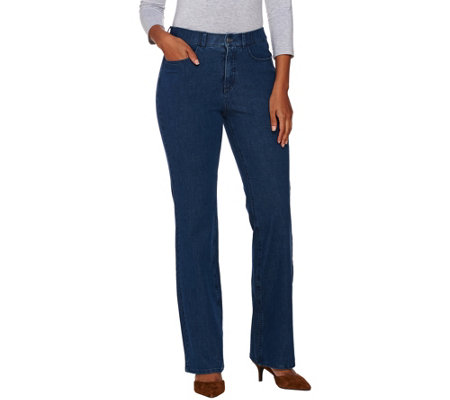 Isaac Mizrahi Live! Regular 24/7 Denim 5 Pocket Boot Cut Pants