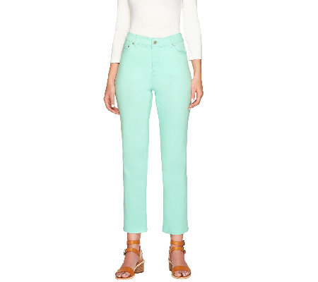 """As Is"" Liz Claiborne New York Regular Jackie Colored Ankle Jeans"