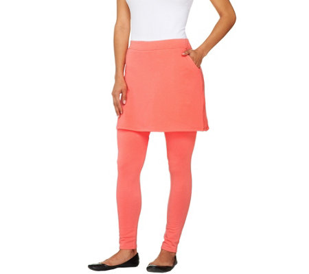 """As Is"" Legacy French Terry Ankle Length Skirted Leggings"