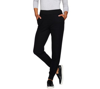 LOGO Lounge by Lori Goldstein Regular Thermal Knit Pants - A273385