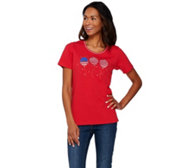 Quacker Factory Americana Novelty Short Sleeve T-shirt