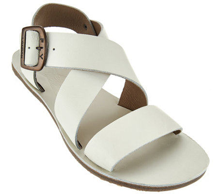 FLY London Leather Adjustable Multi-strap Sandals - Bian