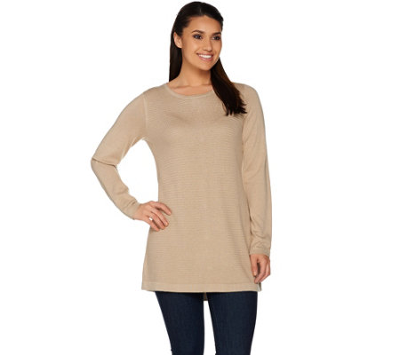 Susan Graver Knit Sweater with Back Buttons