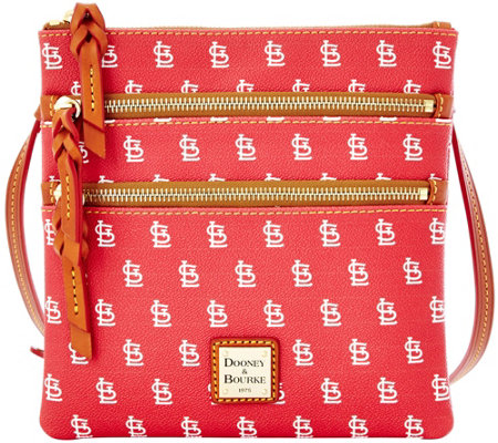 Dooney & Bourke MLB Cardinals Triple Zip Crossbody
