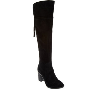 Franco Sarto Over the Knee Suede Boots with Tassel - Eckhart - A281285