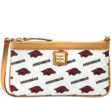 Dooney & Bourke NCAA University of Arkansas Slim Wristlet