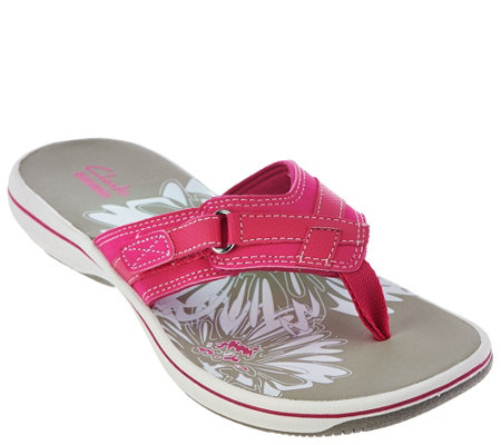 Clarks Sport Thong Sandals - Breeze Sea