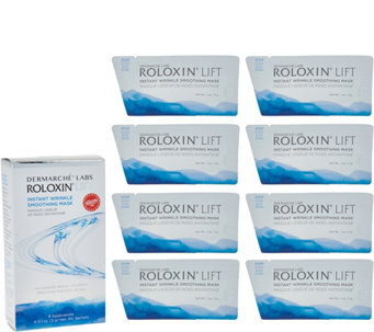 Roloxin Instant Wrinkle Smoothing Masks Set of 8 by Dermarche Labs - A286385