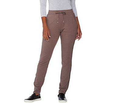AnyBody Loungewear Cozy Knit French Terry Slim Pants - A286585