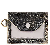 LOGO by Lori Goldstein Embossed Small Wallet with RFID - A287185