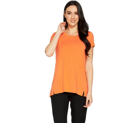 H by Halston Essentials Short Sleeve Scoopneck Knit Tunic