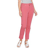 Isaac Mizrahi Live! Regular 24/7 Colored Denim 5-Pocket Ankle Jeans - A290885
