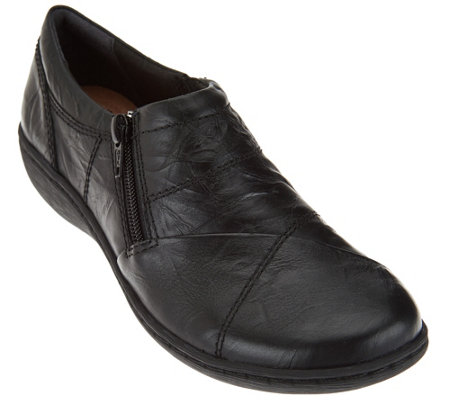 """As Is"" Clarks Leather Slip-On Shoes Fianna Ellie"