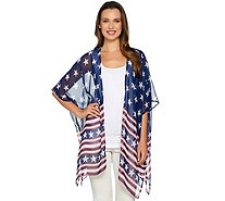 Joan Rivers Stars & Stripes Convertible Kimono/Scarf - A291985
