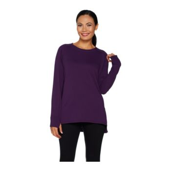 Cuddl Duds Comfortwear French Terry Pullover Top
