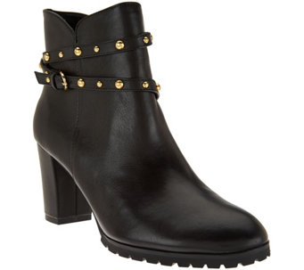 """As Is"" C. Wonder Leather Ankle Boots w/ Stud Detail - Ava - A294285"