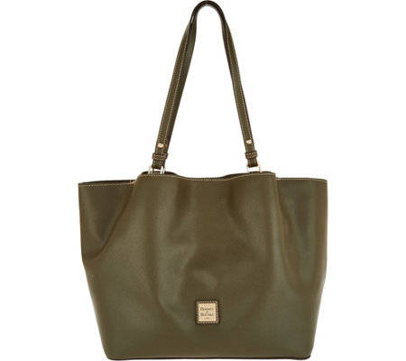 Dooney & Bourke Saffiano Leather Shoulder Bag -Flynn