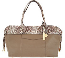 G.I.L.I. Leather Slouchy Shopper - A299085