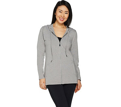 Denim & Co. Active Zip Front French Terry Jacket - A299385